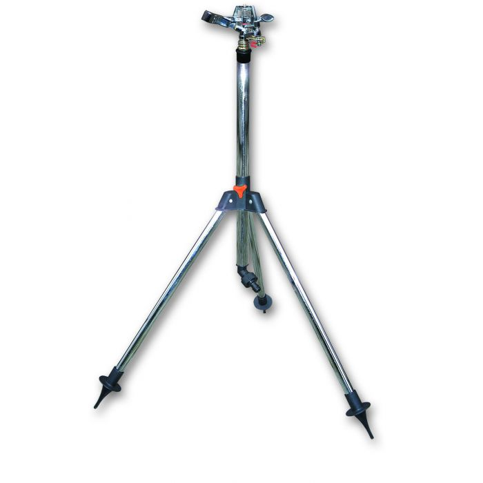 Pulsating sprinkler on tripod- Covers 570 m sq